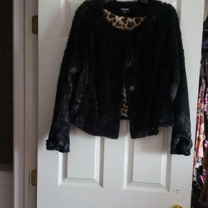 Torrid size 3 faux fur jacket